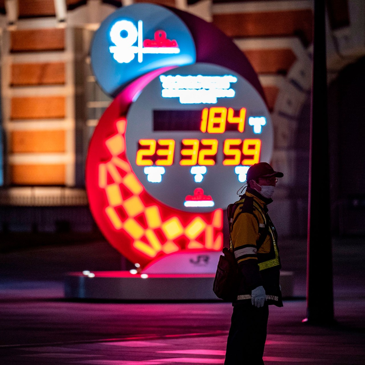Too optimistic? A clock at Tokyo railway station counts down to the postponed 2020 Olympic and Paralympic Games as fears grow that the July event will be called off